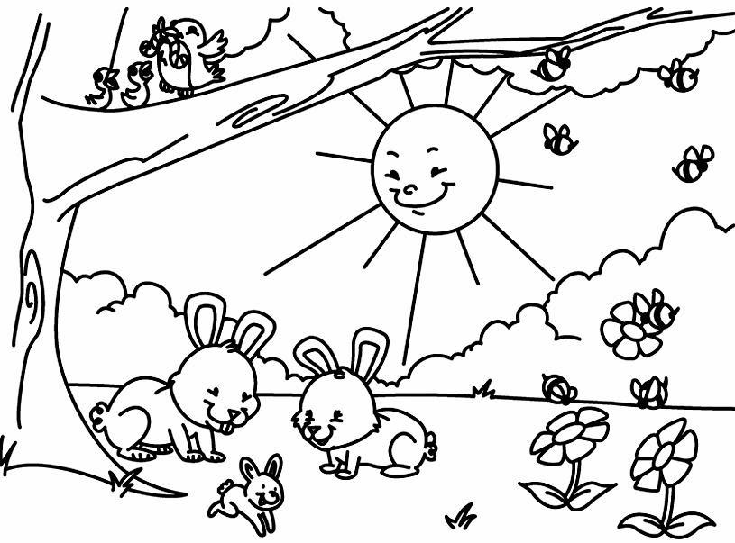Dibujos Infantiles Primavera Az Dibujos Para Colorear