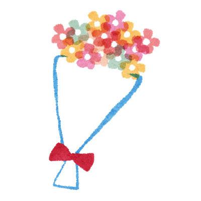 フリー素材 カラフルで綺麗な花束のイラスト誕生日や結婚式などの