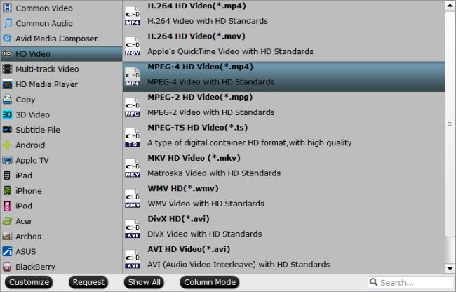 set output formats