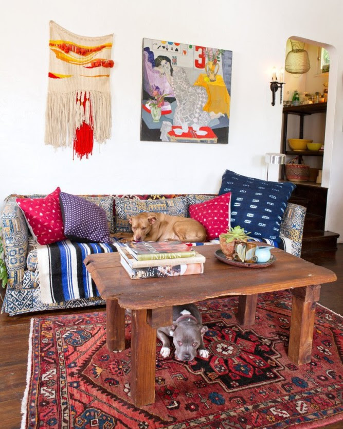 Sasha's Silver Lake Bohemian Bungalow via Apartment Therapy
