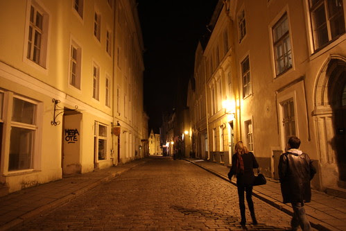 A walk through the streets at night