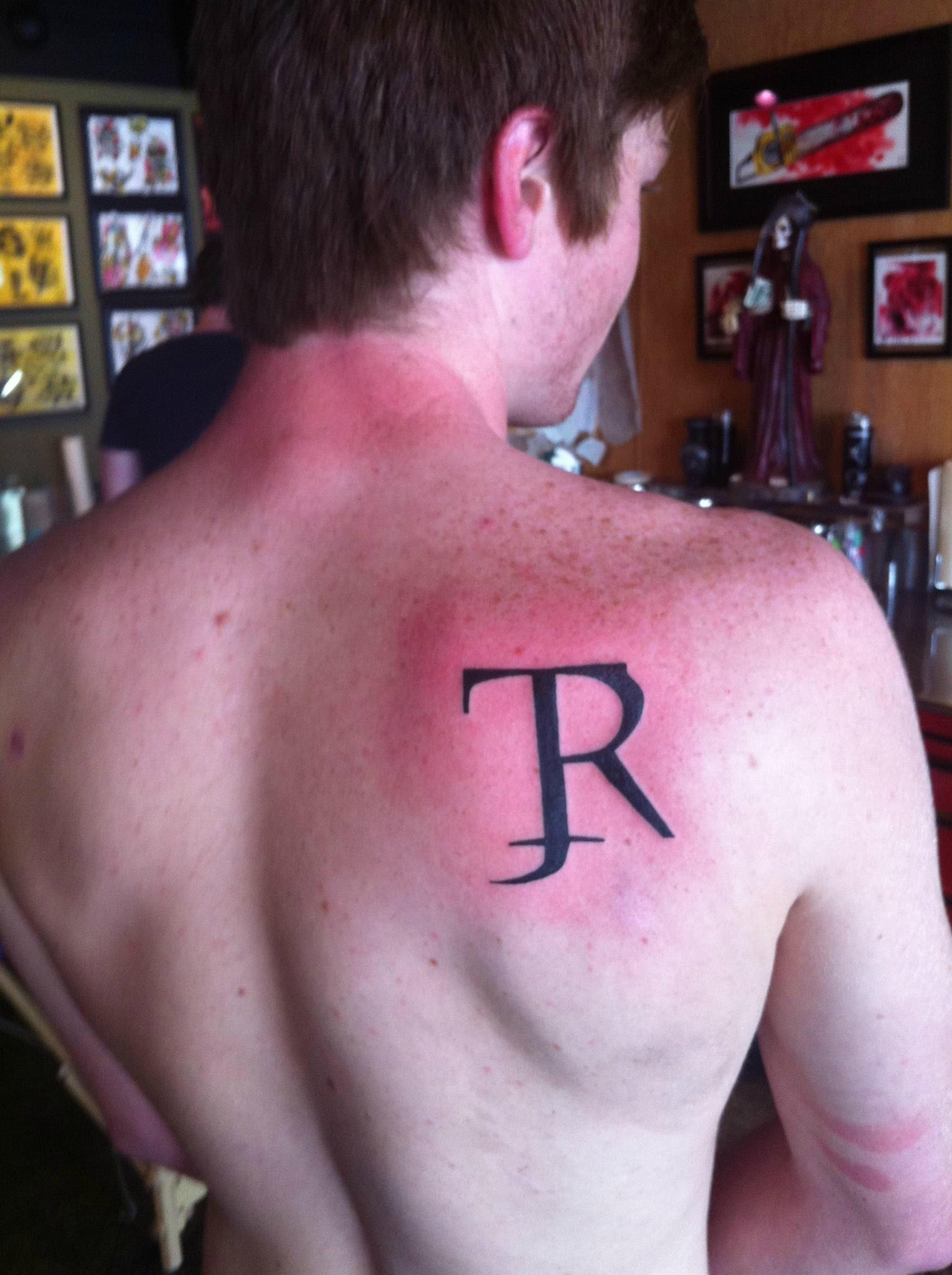My Grandfathers Initials First Tattoo 18 Today Tattoos