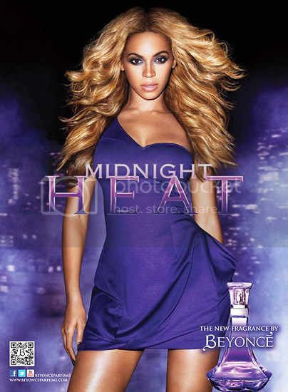 Beyonce Midnight Heat Perfume Ad Campaign