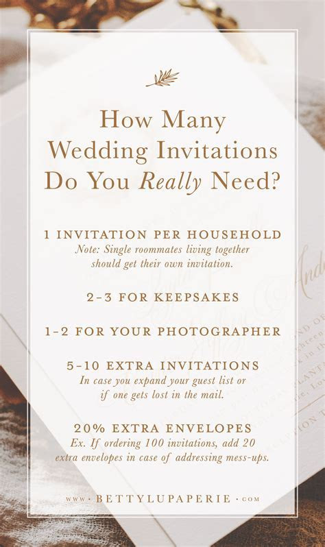 Find Out How Many Wedding Invitations to Order