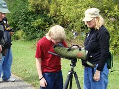 Young birder scope