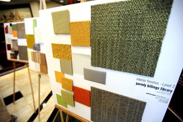Interior design finish samples