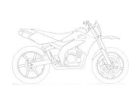Sketsa Motor Klx Supermoto