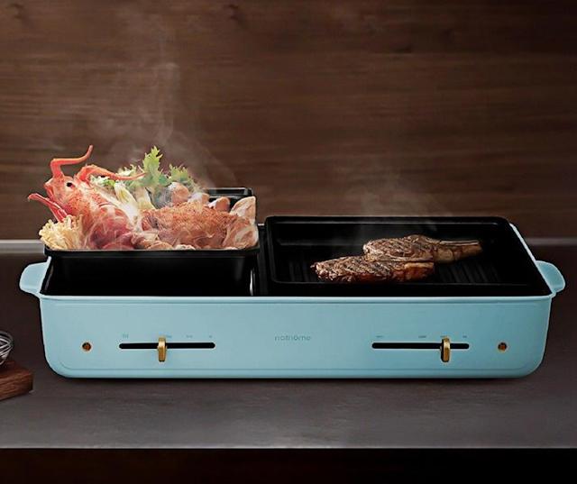 【燒烤、邊爐二合一】nathome 全能鍋 多功能易用 煎煲無難度 HK$880