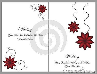 Set Of Wedding Cards Royalty Free Stock Photos - Image: 34006098