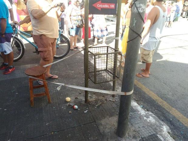 Polícia apura se mais explosivos foram deixados na região central (Foto: Divulgação/Polícia Militar)