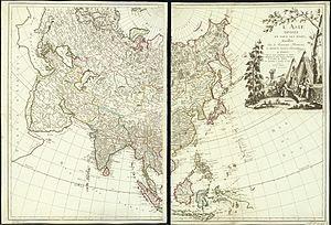 L'Asie divisée en tous ses Etats
