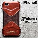 Roberu ( ロベル ) iPhone5 専用 レザーケース ブラウン