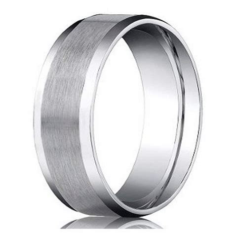 Benchmark Platinum Men's Wedding Ring, Designer Satin