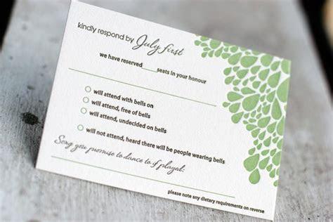 Cool Letterpress Reply Card Ideas   Bella Figura