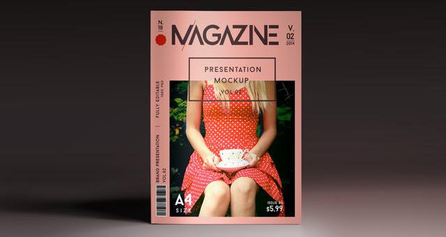 001 A4 magazine template presentation mockup brand vol 2