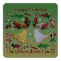Happy Holidays Angels Holly Card