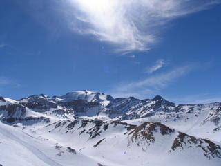 Valle Nevado peaks panarama