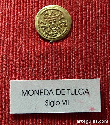 Moneda del rey Tulga, hallada en Recópolis, Guadalajara