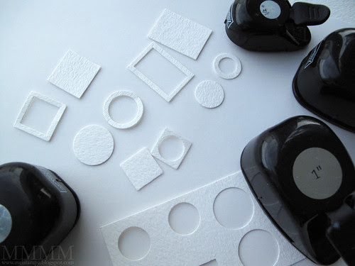 12) Decorate the sleeve Punch shapes for frames & matching backs