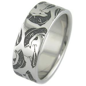Fishing Wedding Rings & Fish Hook Rings   Titanium Buzz