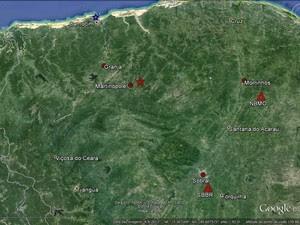 Três tremores de terra foram registrados em duas cidades da Região Norte do Ceará (Foto: LabSis/UFRN)