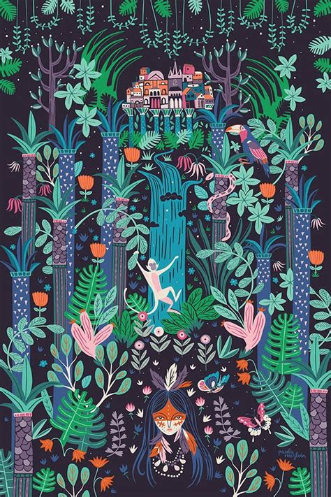ideas  forest illustration  pinterest