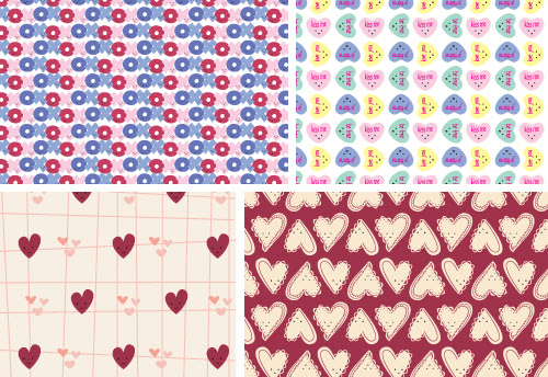 Hearts Day Origami Paper