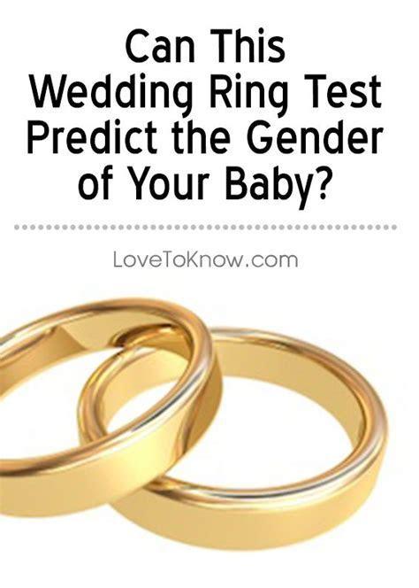 Wedding Ring Gender Test   Pregnancy & Babies   Labor