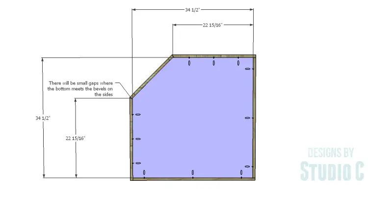 A Corner Base Cabinet For A Kitchen Remodel