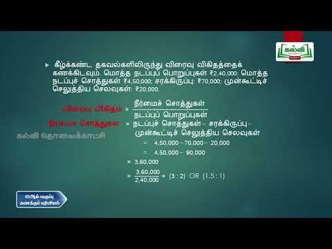12th Accoutance விகித பகுப்பாய்வு  பகுதி 2  Q And A  Kalvi TV