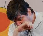 Rubens Paiva chora ao falar da morte do pai (Flavio Moraes/G1)