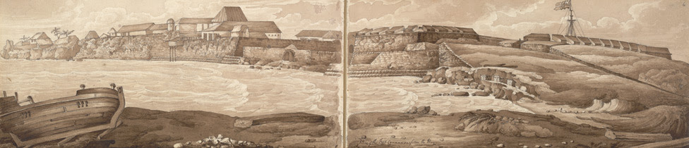f.5-6   'View of the Fort, Cannanore, from the Bay.'
