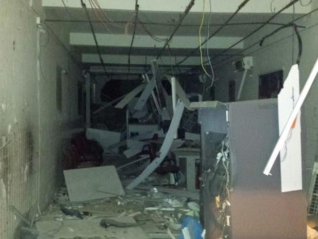 Quadrilha explodiu caixas eletrônicos na cidade de Fortuna no Maranhão (Foto: Reprodução)