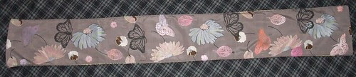 butterfly side of scarf