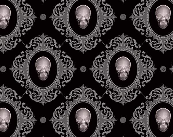 Gothic wallpaper – skulls — thefashionatetraveller.