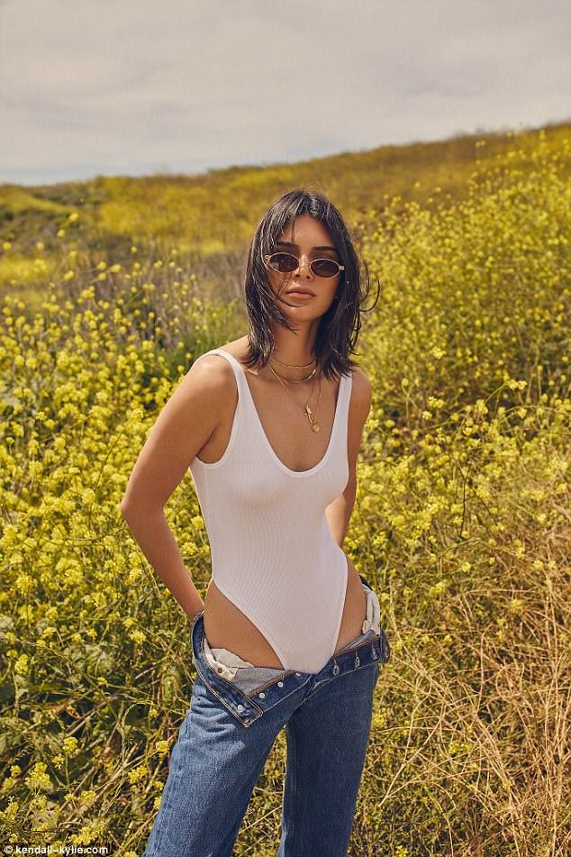 Wow factor: Kendall Jenner r colocar em toda a exibição de olho-estalante em magos de sua próxima Kendall Kylie moda linha de roupas lançado na quarta-feira