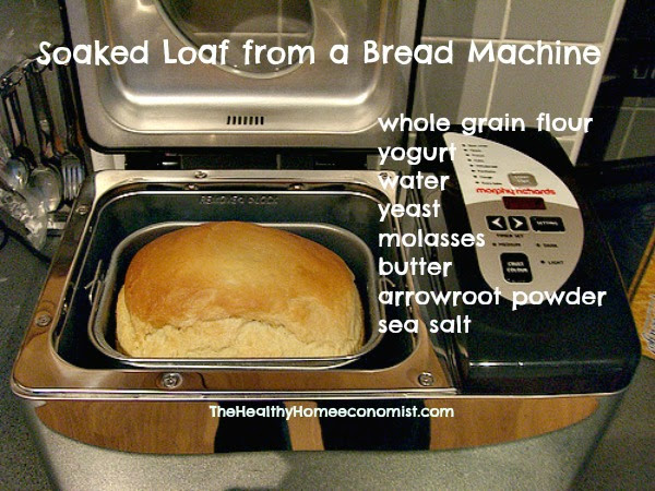 Bread Machine Recipe Made with Soaked Flour