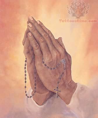 Praying Hands Rosary Beads
