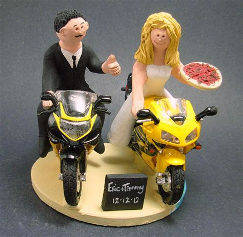 Sportbike Wedding Cake Toppers