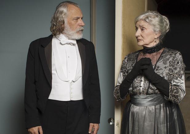 Rade Sherbedgia as Kuragin & Jane Lapotaire as Princess Irina in Downton Abbey Christmas special