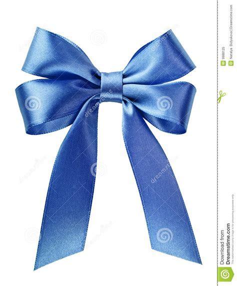 Satin Blue Ribbon Bow Royalty Free Stock Photo   Image