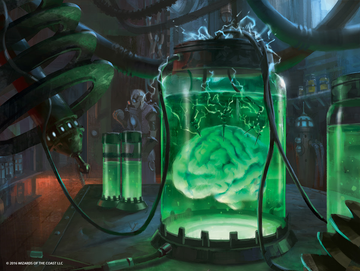 A brain in a jar