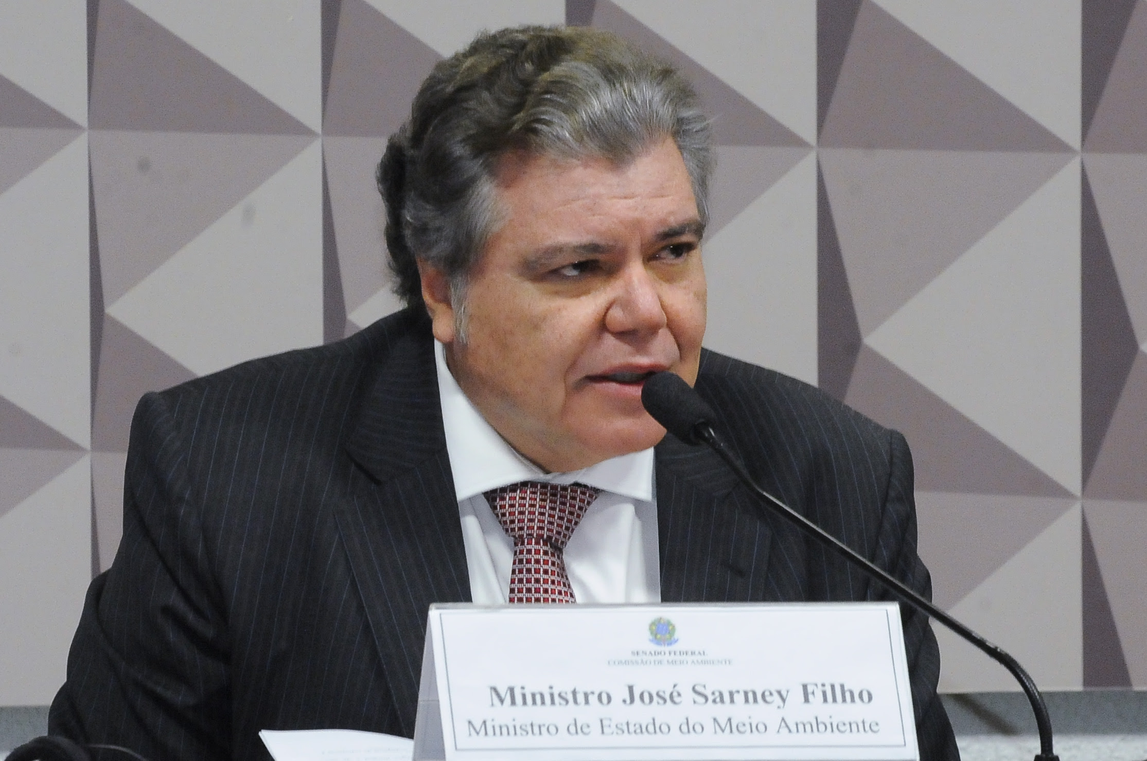 Ministro do Meio Ambiente, Sarney Filho, recomenda veto às Medidas Provisórias 756 e 758. Foto: Waldemir Barreto/Agência Senado.