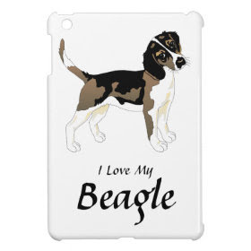 I Love My Beagle iPad Mini Cases