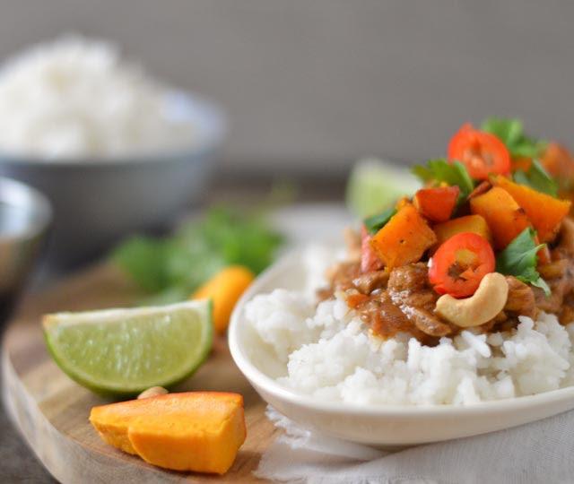 Snelle Indiase curry met pompoen