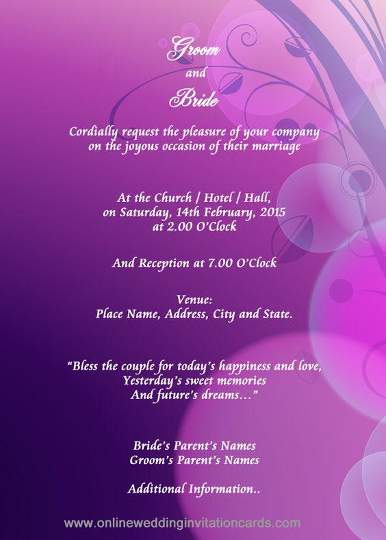 indian style Invitation Design sample_ 8 | Wedding invitation ...