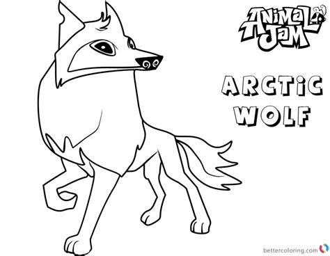 animal jam coloring pages arctic wolf  printable