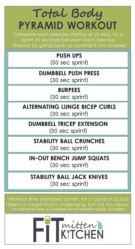 weight training workout  pyramid fit mitten kitchen