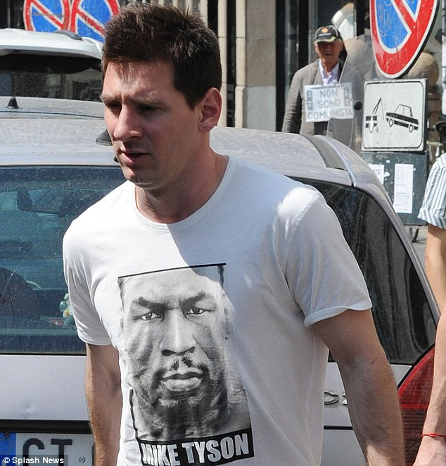 Complications: Messi, shopping at Dolce and Gabbana in Milan, will pay the £3.4million tax fine