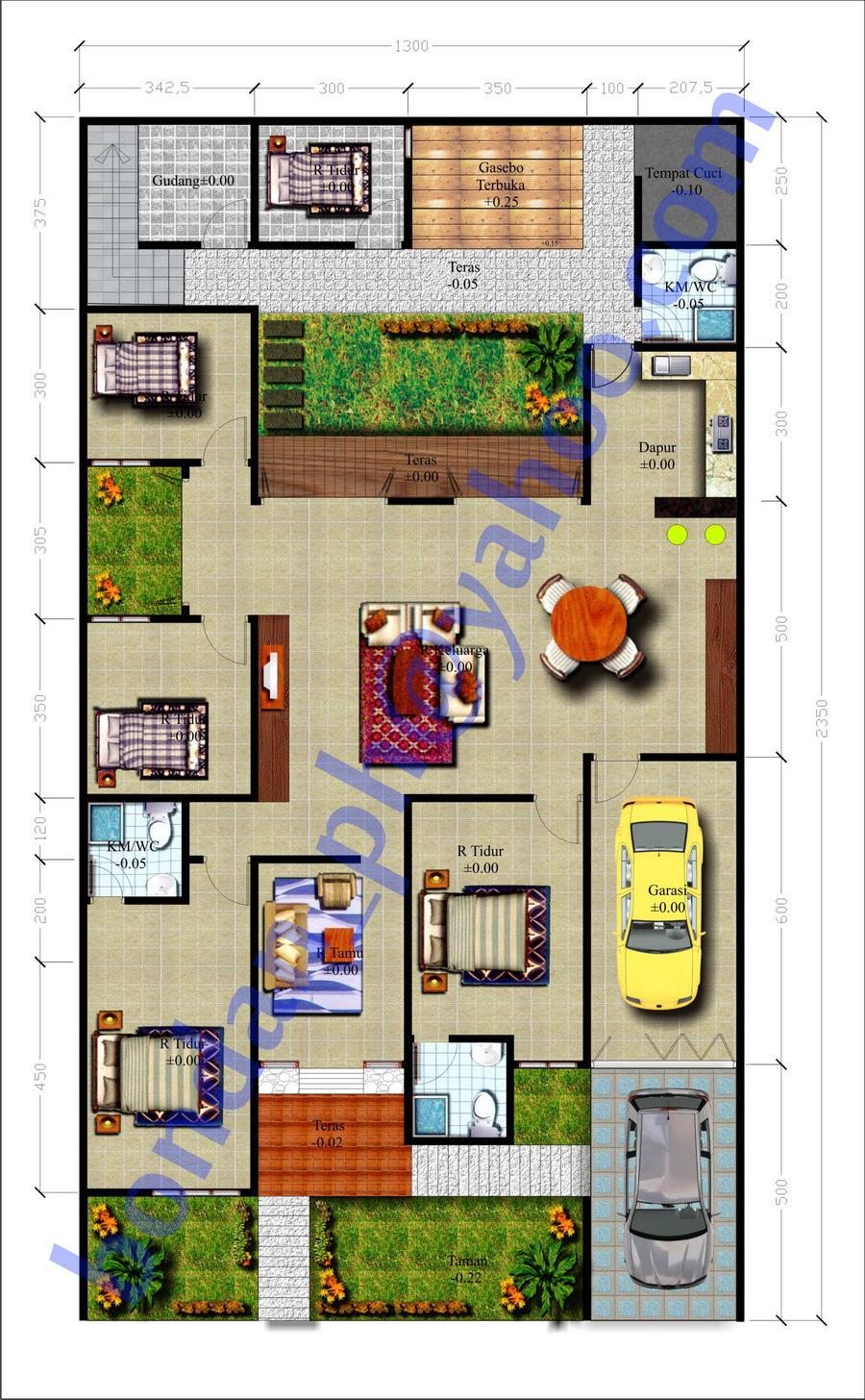 Gambar Dan Denah Rumah Minimalis By Desain Rumah 2015 Interior